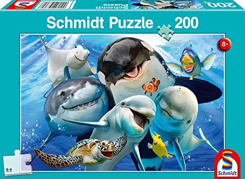 Schmidt Spiele 56360 Unterwasser-Freunde, Kinderpuzzle, 200 Teile, bunt