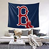 NA Boton Red Sox Bolt Wall Tapestry with Art Nature Home Decorations for Living Room Bedroom Dorm Decor in 60x51 Inches