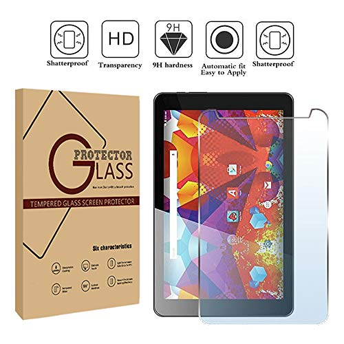 FINDING CASE Argos Alba 8 Inch Tablet - Premium Tempered Glass Screen Protector Film Cover 9H Hardness Anti-Scratch Bubble-Free Ultra Clear