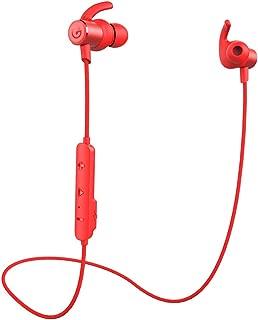 ワイヤレスイヤホン GEVO Bluetoothイヤホン bluetooth5.0 技適認証 ipx6防水防塵 siri対応 高音質 重低音 HIFI 左右一体型 スポーツ ランニング仕様 カナル型 高遮音性 CVC6.0ノイズキャンセリング MEMSマイク クリア通話 メタル ブルートゥースイヤホン (赤い)
