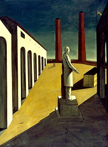 Posterazzi Poster Print Collection Giorgio De Chirico: Enigma of a Day. Oil on Canvas, 1914, (18 x 24), Varies