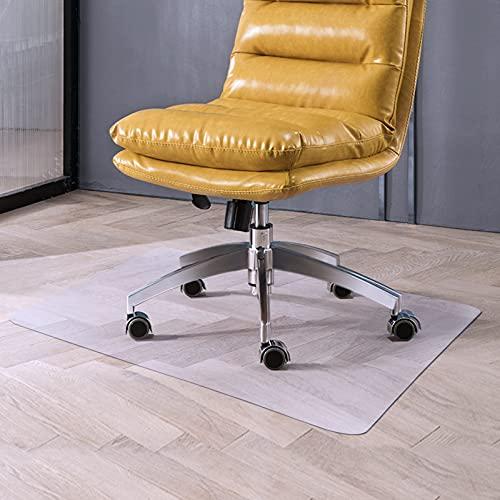 "ROSMARUS Chair Mat for Hardwood Floor 30"" x 47"" Hard Floor Mat for Home Office Anti Slip Under Desk Mat for Rolling Chair Low Pille Floor PVC Protector Rug, Rectangle"