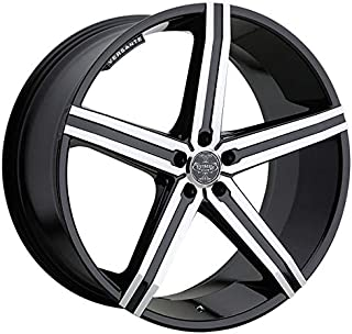 Versante VE228 – 20 Inch Rims – Full Set of 4 Black Machined Wheels – Sports Racing Cars – Fits Challenger, Charger, Mustang, Camaro, Cadillac and More (20x8.5) – Car Rim Wheel Rines Carros