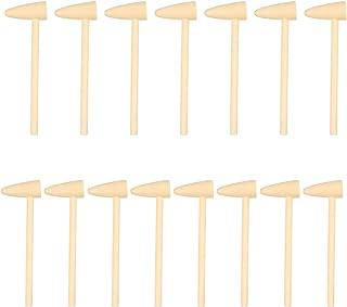 TOYANDONA 15pcs Wood Hammer Toy Portable Flat Pointed Head Wooden Mallet Motor Skills Hammer Educational Montessori Toy fo...