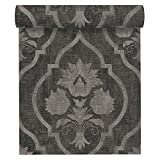 A.S. Création Vliestapete Memory 3 Tapete neo-barock 10,05 m x 0,53 m grau schwarz Made in Germany 335933 33593-3