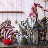 lennonsi Gesichtslose Puppe Cartoon Weihnachtsdekoration Alter Mann Puppe Ornament Alter Mann Nordic Puppen Spielzeug -