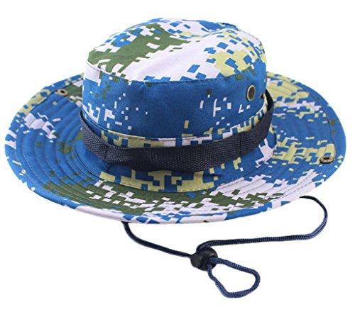 Bigood Chapeau de Pêche Homme Femme Sport Voyage Randonnée Camping Eté Camouflage K