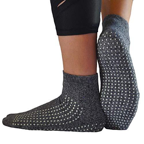GrippyPlus Anti-Rutsch-Socken, Doppelfaden für Krankenhaus, Yoga, Barre, Pilates, für Männer und Frauen