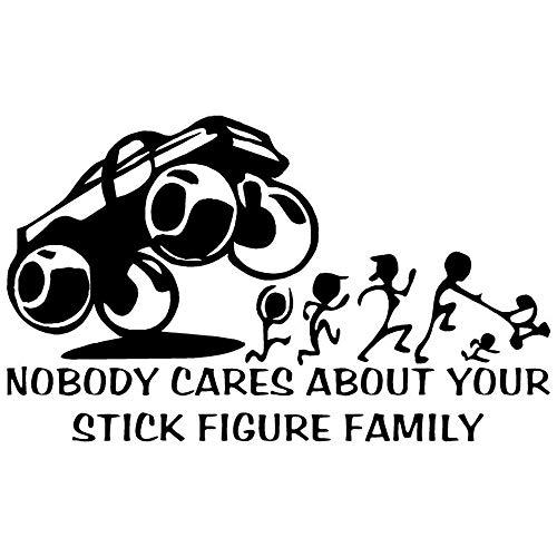 Niemand Kümmert Sich Um Ihre Strichmännchen Familie Aufkleber Auto Styling Aufkleber Zubehör