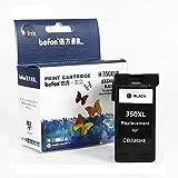 Befon 350XL - Cartuchos de Tinta refabricados para HP 350 CB336EE CB338EE (1 Unidad, Compatible con HP Deskjet D4260, 4260, D4360, C4200, C4480, C4280(350BK)