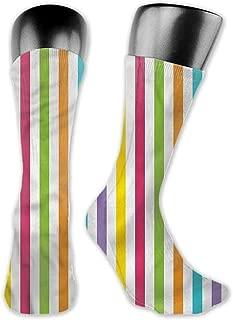Pattern Socks,Socks Rainbow Minimalist Line Art