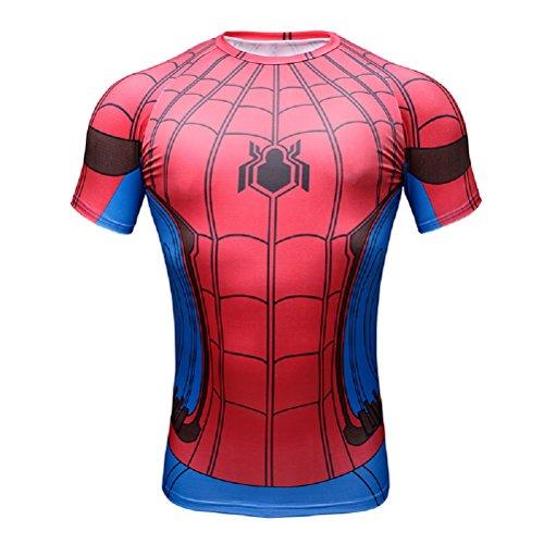 Samantha Jane Clothing Ltd–Maglietta da uomo, colore: nero nero Spiderman Red/Blue Short sleeve Large