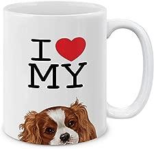 MUGBREW I Love My Cavalier King Charles Spaniels Dog Ceramic Coffee Gift Mug Tea Cup, 11 OZ