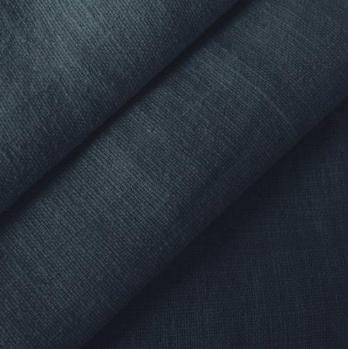 STOFFKONTOR 100% Leinenstoff - edler Naturstoff - vorgewaschen - Meterware, dunkel-blau - zum Nähen von Kleidern, Röcken, Trachtenmode