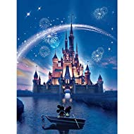 ☻ You Can Get - 1pc diamond art canvas(without frame),round diamonds and tools. Compared to most diamond painting kits, our 5D diamond painting tools kit includes 30% more diamonds. ☻ HD Canvas with Sparkle Diamonds - Our product which not only inclu...