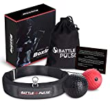 BattlePulse Reflex Ball – Soft Multilayer Premium Headband Boxing Ball – 360-Degree Buckle – 2 Difficulty Level Punching Ball – Reflex Speed Ball – Hand Eye Coordination Training Headset