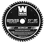 WEN BL6556 6.5-Inch 56-Tooth Carbide-Tipped Thin-Kerf Professional ATAFR Track Saw Blade with PTFE Coating