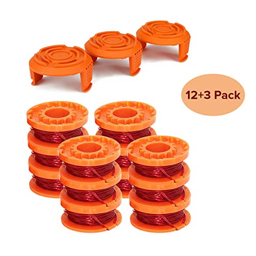 Sale!! Tchosuz Line String Trimmer Replacement Spool, 10ft 0.065 Edger Replacement Spool for Worx T...