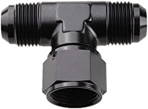 AdlerSpeed 10AN Male To -10AN Male To AN10 Female Tee Fitting Adaptor Aluminum Black