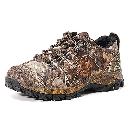 8 Fans Men's Waterproof Trekking Hiking Shoes,Lightweight Realtree Edge Camo Walking Hunting Sneakers with Memory Foam Insole for Men&Women Size 11