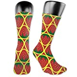 Osmykqe Unisex Tube Sock Strawberry 2 Calcetines de senderismo para mujer Calcetines de exterior