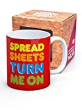 Spreadsheets Turn Me On Mug by Brainbox Candy
