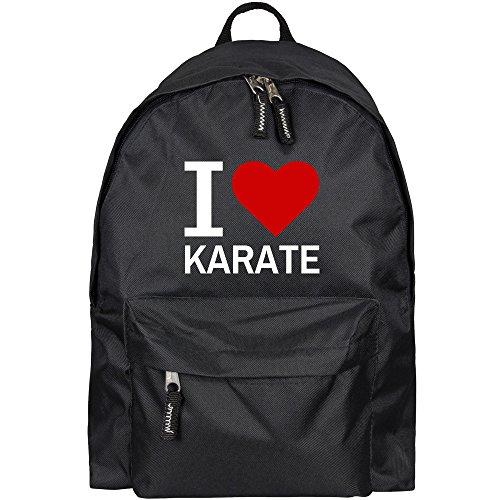 Rucksack Classic I Love Karate schwarz - Lustig Witzig Sprüche Party Tasche