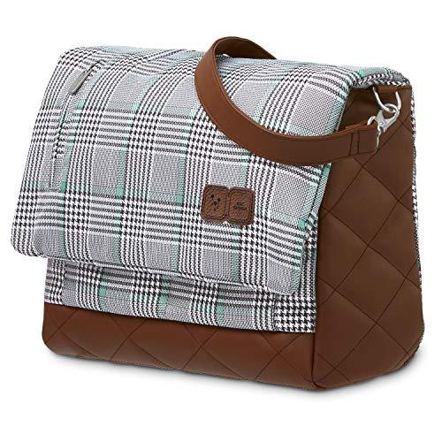 ABC Design Wickeltasche Urban Fashion Edition - Crossbody Bag mit Baby Zubehör – Messenger Bag - großes Hauptfach - breiten Schultergurt - Polyester - Farbe: smaragd