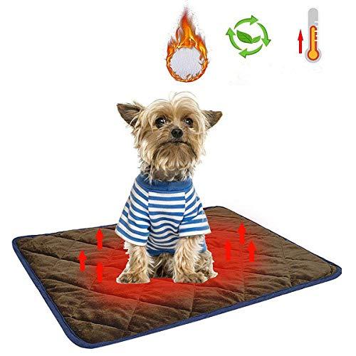 WZRYJS Manta autocalefactable para gatos y perros mascotas, cojín de calor para gatos, perros, mascotas, gatos, cachorros