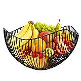 karadrova Portafrutta Cesto Frutta Fruttiera Moderno Metallo Porta Fruttacesto Frutta Grande Cestino per Frutta 25x14 cm Non Adatto per Lavastoviglie