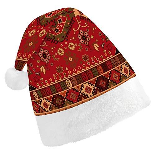 Alfombra Persa, Colores Rojos Tribales Sombrero Rojo de Papá Noel con puños...