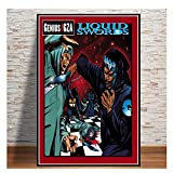 ZFLSGWZ Wu-Tang Clan GZA Liquid Swords Rapper Music Group Stars Poster and Prints Wall Art Canvas Painting for Home Room Decor-50X70Cm No Frame