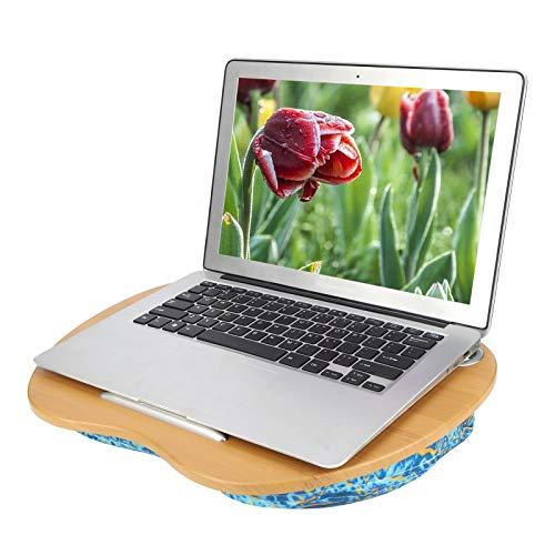 Sora Bandeja de Cama para computadora portátil, Bandeja de Cama para computadora portátil Escritorio, Resistente al Desgaste con cojín Cama para el hogar(Ocean Green)