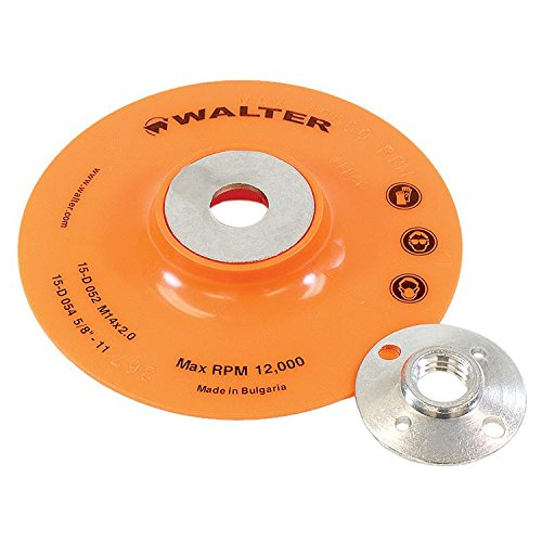 Walter Surface Technologies 15D054 Backing Pad Assembly - Round Hole Fastening Flexible Backing Pad. Sanding Accessories