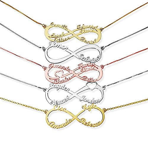 ORFAN Personalized Infinity Name Necklace $14.50 (50% Off with code)