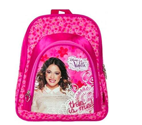 Disney Violetta Rucksack Kindergarten Tasche 30 cm inklusive Sticker von Kids4shop rosa pink
