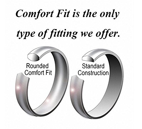 Crownal 1mm 2mm 3mm 4mm 5mm 6mm 8mm White Tungsten Carbide Polished Classic Dome Wedding Ring All Sizes