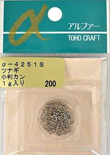 TOHO ツナギ 小判カン 4×3mm α-4251S シルバー 1g入り