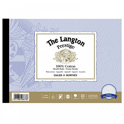 The Langton Prestige Watercolour Pad Rough 12x9'