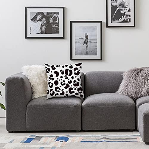 Copri federa 18x18 pollici, Fodere per cuscini in poliestere Federe Federe per divano Decorazioni per la casa Tessuto leopardato senza cuciture per auto Divano letto Divano Decorazioni per la casa