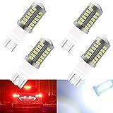 4 unids Blanco 7443 7444NA 5630 33SMD Bombillas LED de Coche 900LM Luz de Freno LED Super Brillante para Camión de Remolque 12-30 V 3.6 W