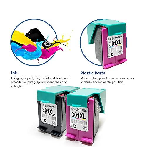 SMARTOMI Remanufacturado 301XL 301 Compatibles con Cartucho Tinta HP 301 XL para HP Deskjet 1000 1050 1055 2050 2510 2540 3000 3050 3054 HP Envy 4500 4502 4503 5530 HP Officejet 2620 2622 2624 4630