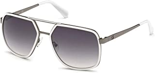 GUESS - Gafas de Sol GU6978 White/Smoke 58/17/145 hombre