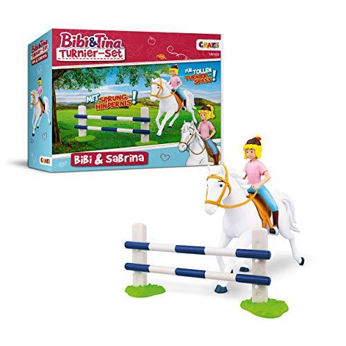 CRAZE BIBI & TINA Turnierset mit Reiterin Pferd Bibi und Sabrina inkl. Reitzubehör Spielfiguren zum Sammeln 14165