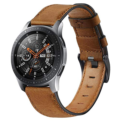 MPWPQ 22mm Watch Band para Samsung Galaxy Watch 3 45 / 46mm para Amazfit GTR 47mm / para Gear S3 Frontier Leather Correa para Huawei Watch GT 2 / 2e Strap Strap Strap