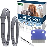Flea and Tick Collar for Dog, Made with Natural Plant Based Essential Oil, Safe and Effective Repels Fleas and Ticks, Waterproof, One Size Fits All (2 Packs)