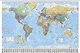 Close Up Weltkarte (Mit Flaggen) Englisch Poster 91,5 x 61