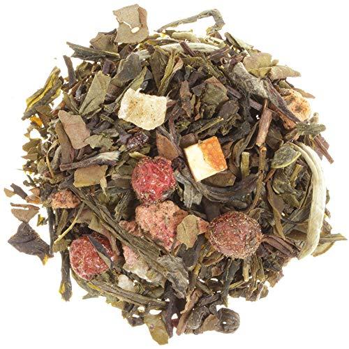 AURESA Grüner Tee Schätze des Südens | Mit Lychee Pfirsisch Geschmack | Teemischung aus grünem und weißem Tee