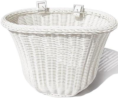 Colorbasket Adult Front Handlebar Bike Basket - White