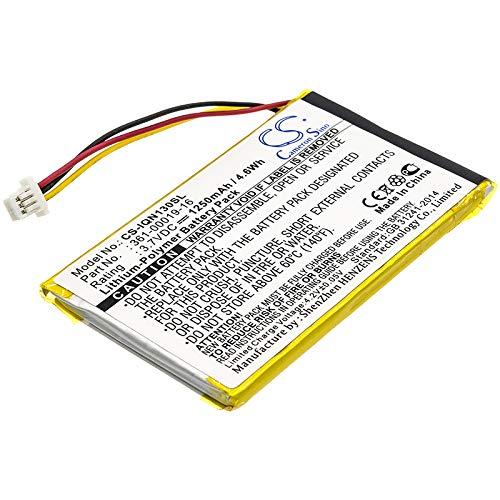 TECHTEK batería sustituye 361-00019-12, para 361-00019-16 Compatible con [Garmin] Nuvi 1300, Nuvi 1340T Pro, Nuvi 1350, Nuvi 1350T, Nuvi 1370, Nuvi 1370T, Nuvi 1375T, Nuvi 1390, Nuvi 1390T, Nuvi 1490